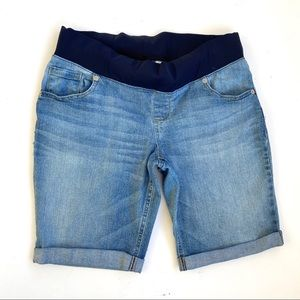 Maternity Jean Shorts Size Large 12-14